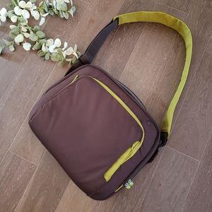 Belkin Green and Brown Laptop Messenger Bag